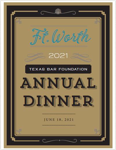 TXBF Annual Dinner 2021