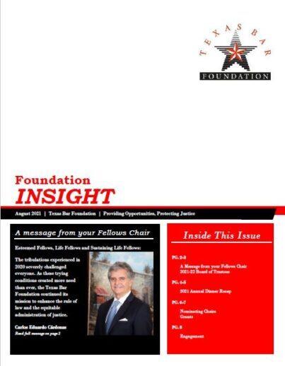 2021 Newsletter Cover